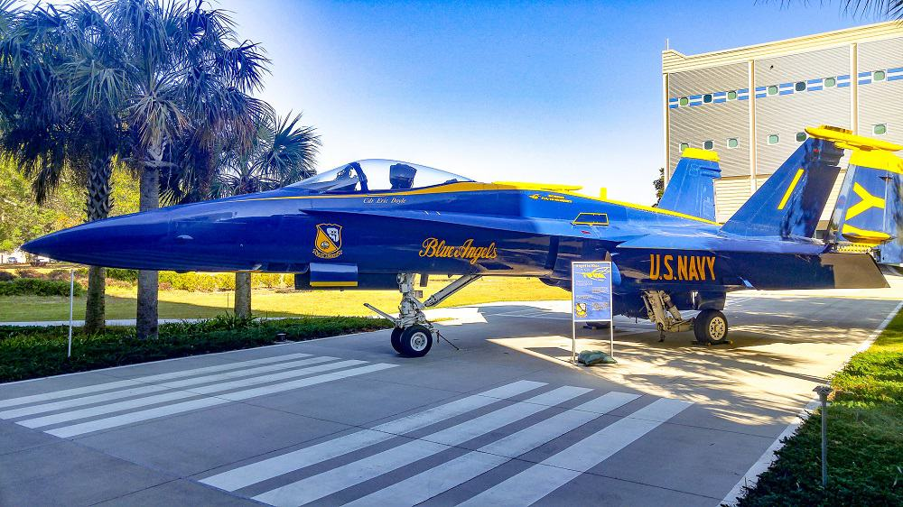 Blue Angels f-18 at Pensacola Naval Air Museum