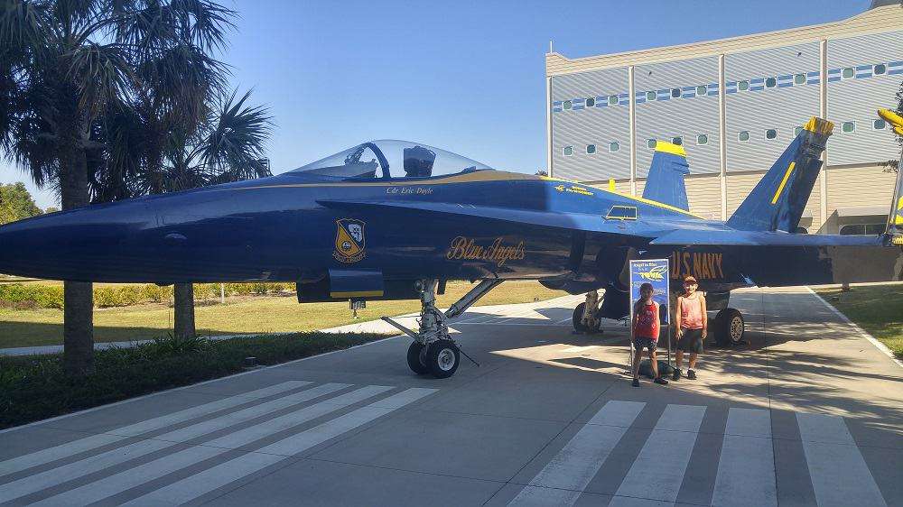pensacola with kids blue angels jet