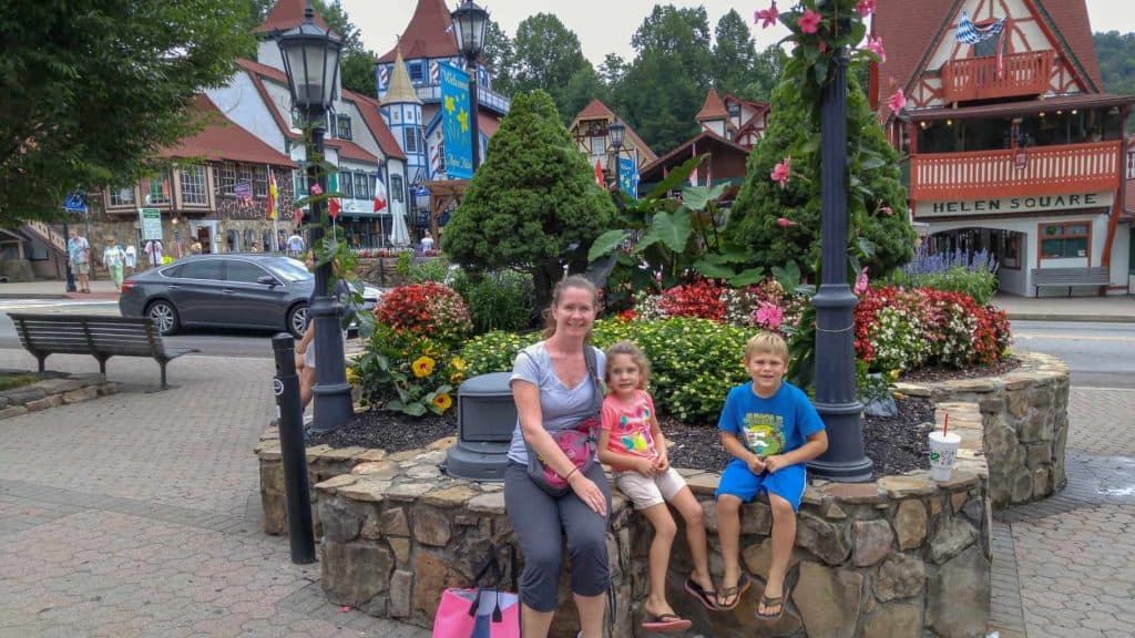 Enjoying the town of Helen in Georgia
