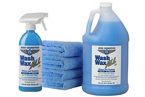 wash wax all bottles and cloths