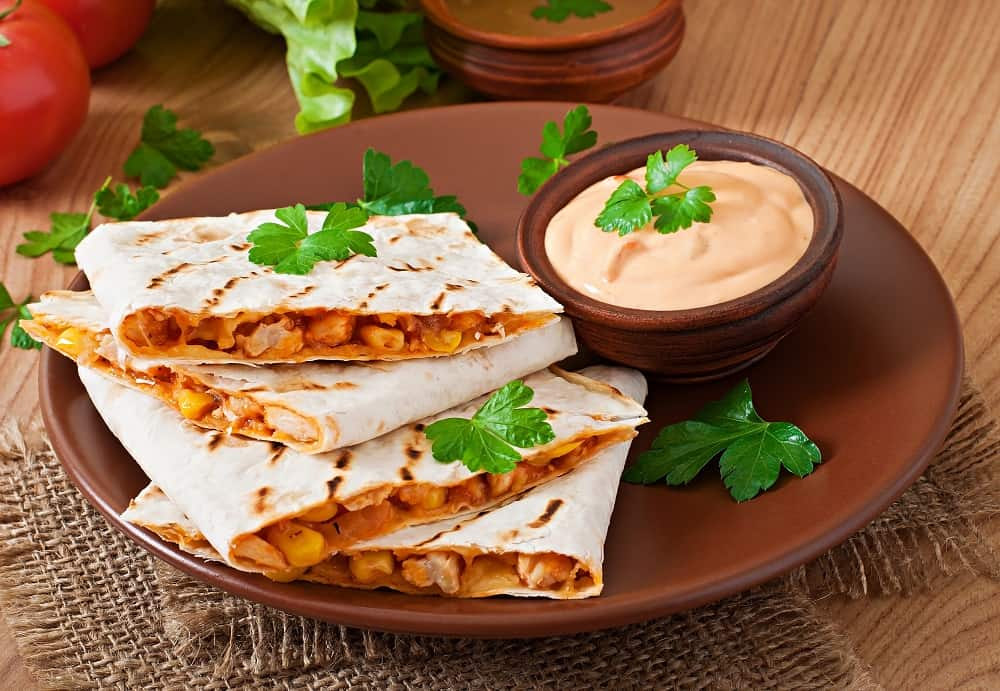 Easy RV Meals Quesadilla On A Plate