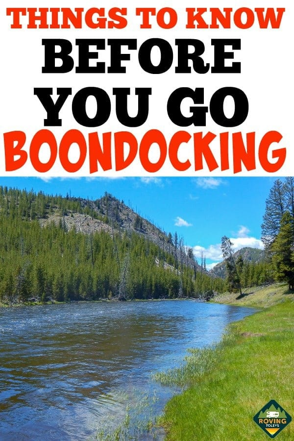 Thinking about boondocking? This camping guide answers all your questions about Boondocking in an RV. #RVLifestyle #RVliving #camping #booondockingtips