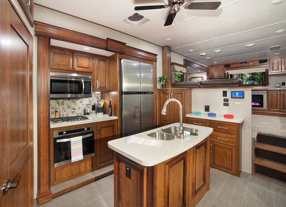 RV Storage ideas for the RV kitchen and island