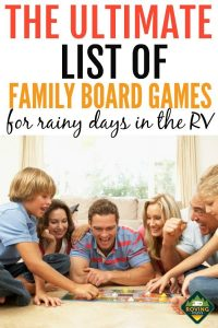 25 Awesome family board games for RV Rainy Days for both kids and adults alike. #rv #rving #family #camping