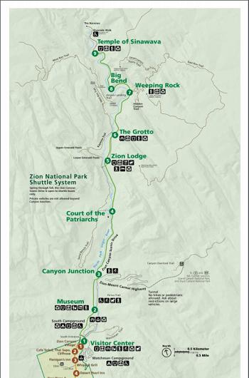 Zion National Park Map