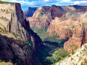 zion canyon from observation point zion national park