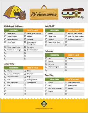 photo relating to Rv Checklist Printable titled Printables Retail store The Roving Foleys