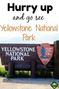 Hurry up and go see Yellowstone National Park
