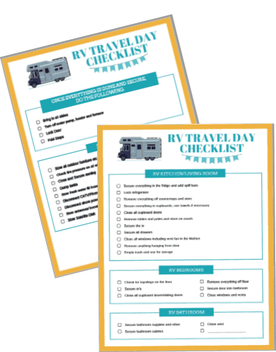 2 page travel day checklist printable