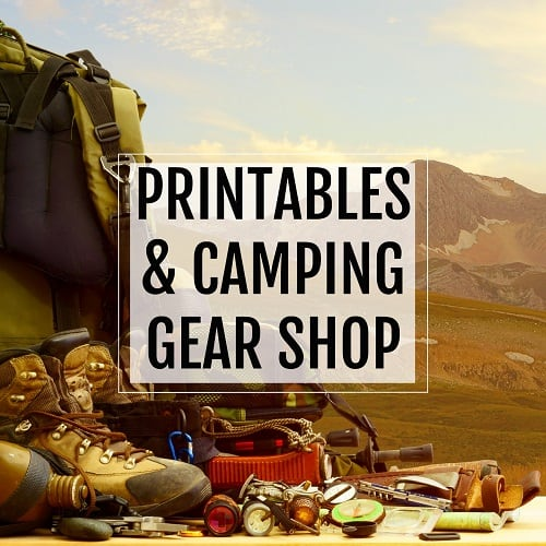 printables and camping gear button