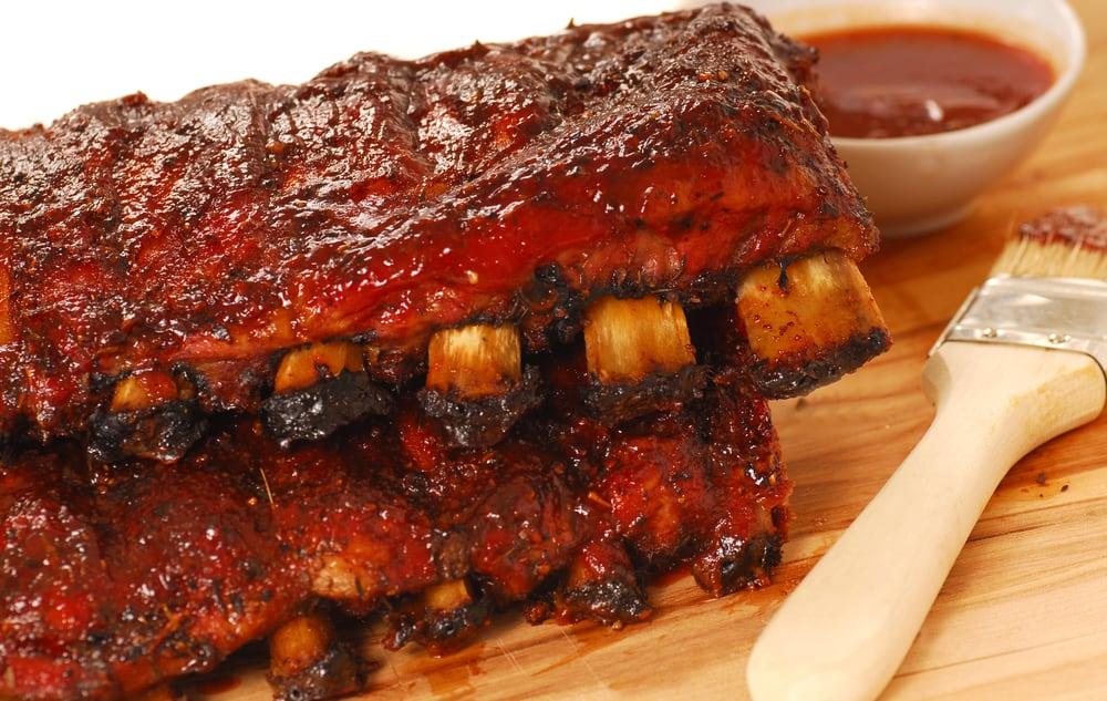 BBQ Pork Ribs on the grill