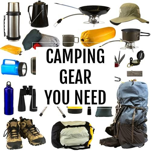 camping gear you need button
