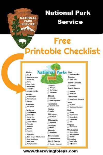 graphic regarding Printable National Park Checklist titled Countrywide Parks Listing (No cost Printable) The Roving Foleys