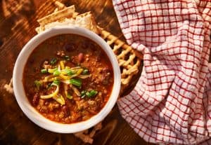 Chili is our favorite Camping Crockpot Dinner Meals