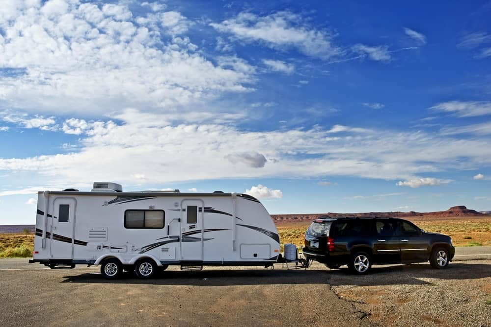 How much would it cost to rent an RV travel trailer through Arizona in the dessertand SUV located in the dessert