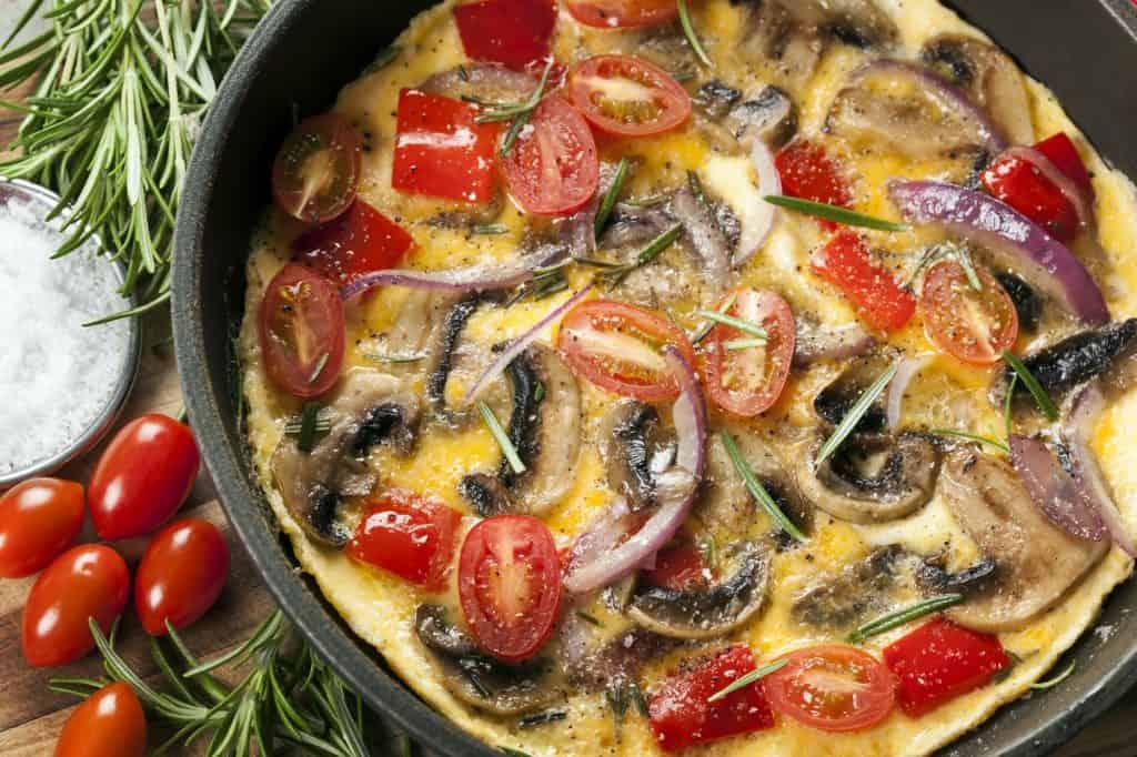 Cast iron skillet omelet