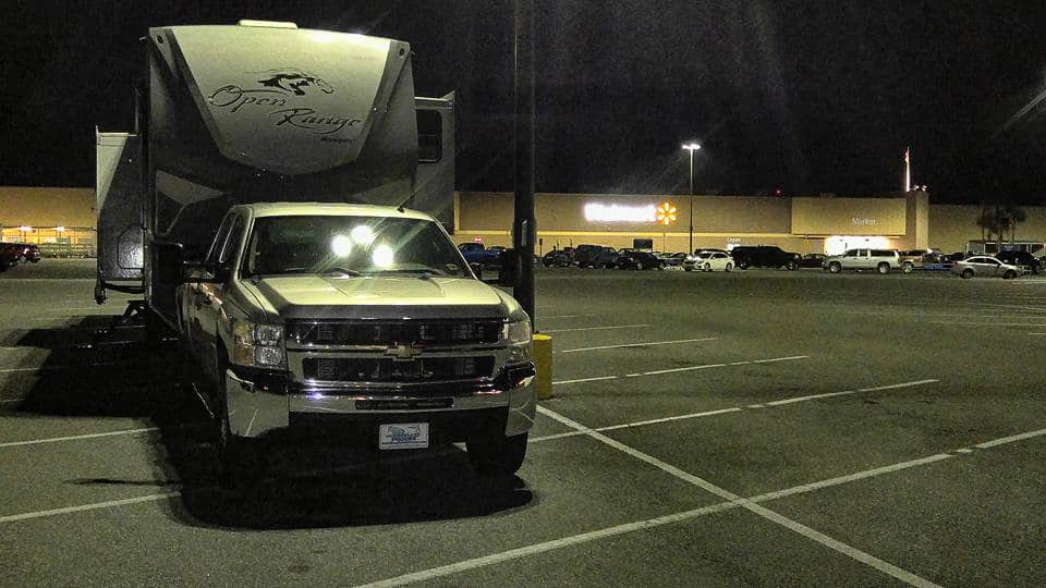 can you park overnight at walmart