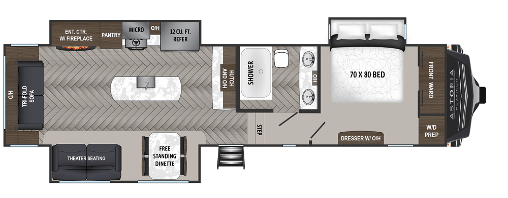 best small fifth wheel campers 2020 DUtchmen Astoria_3173RLP-01