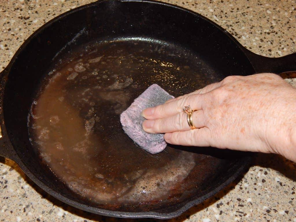 Washing your cast iron skillet