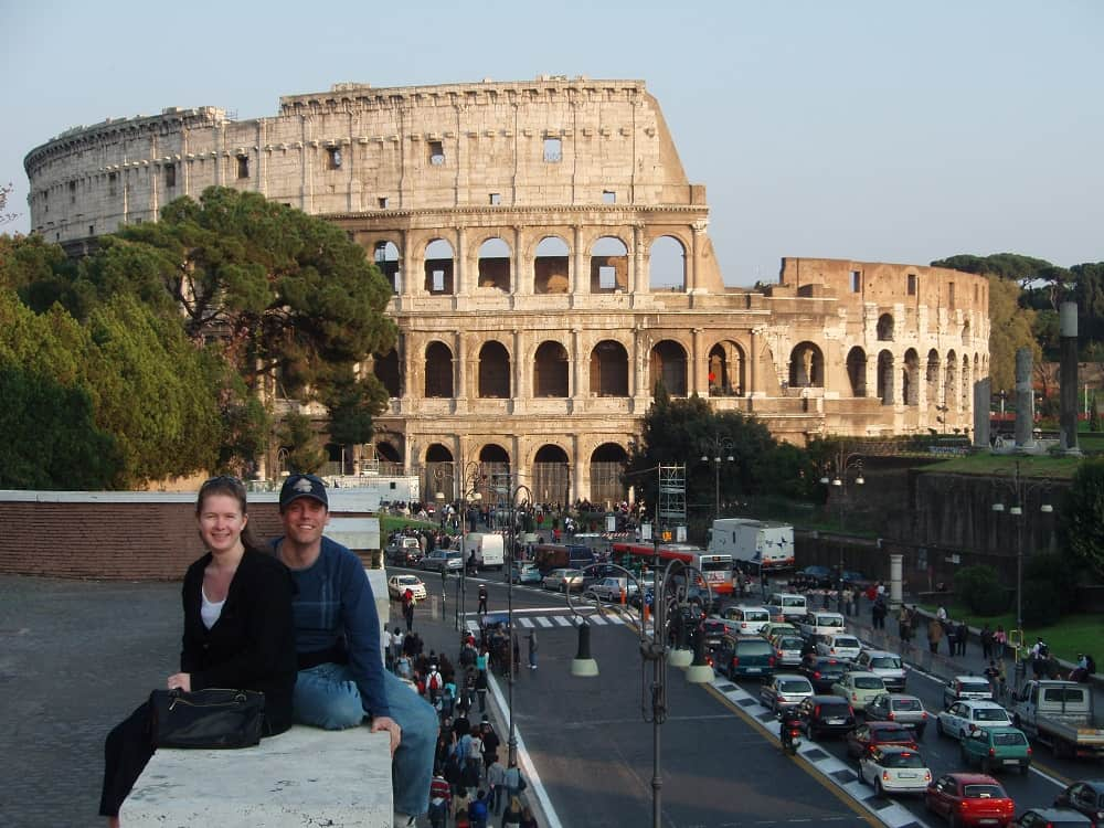 frank and grainne at the coliseum in rome