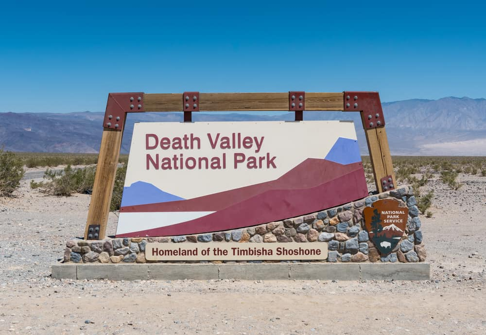 death valley NP sign