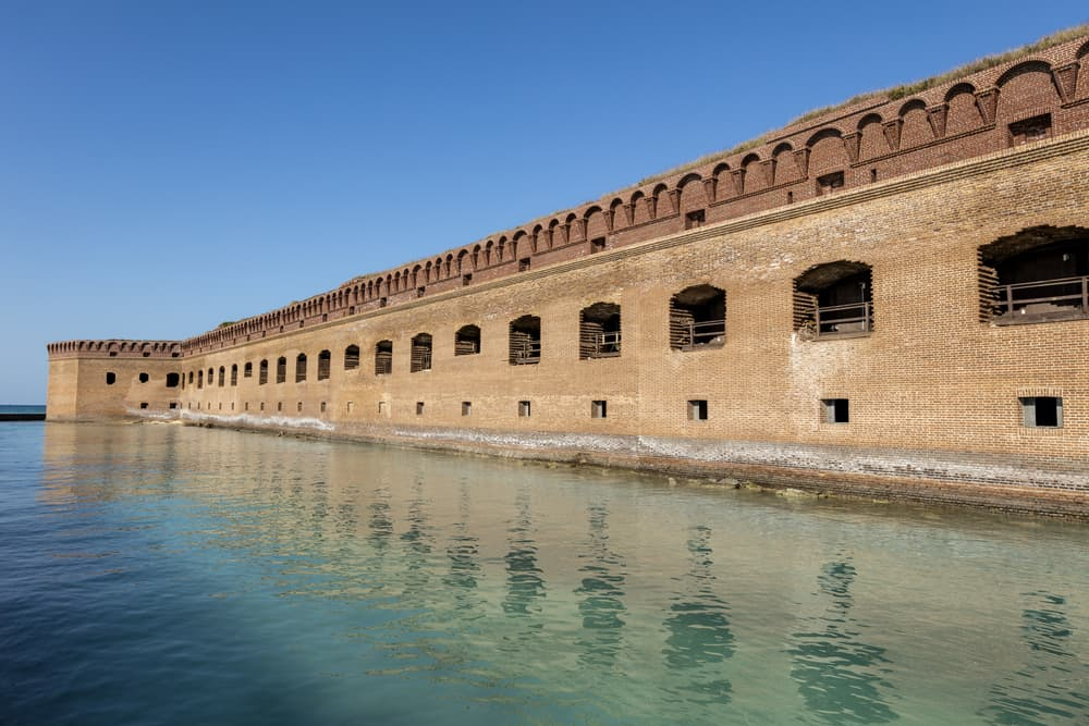 A view of Dry Tortugas in the water