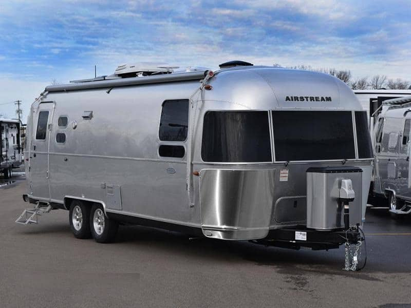 airstream in the parking lot