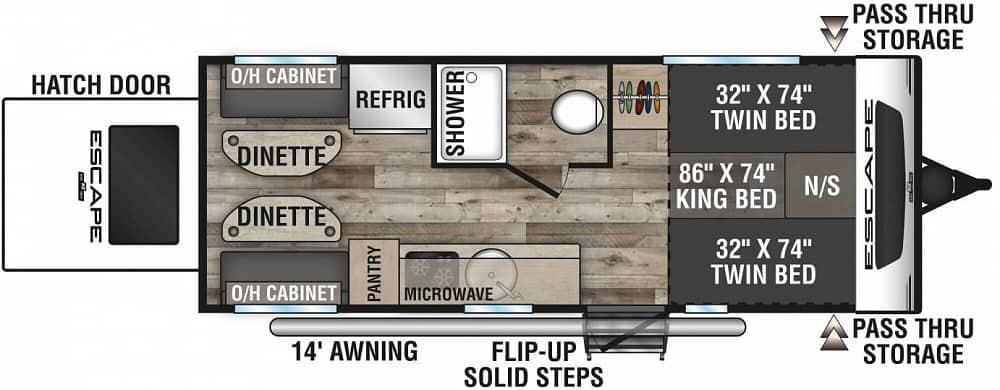 Floorplan for travel trailer