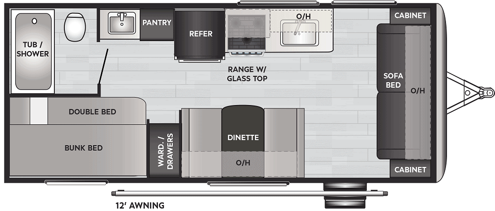 travel trailers with twin beds floorplans