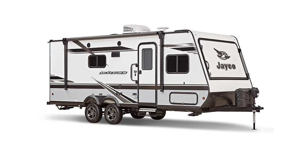 travel trailer with white background