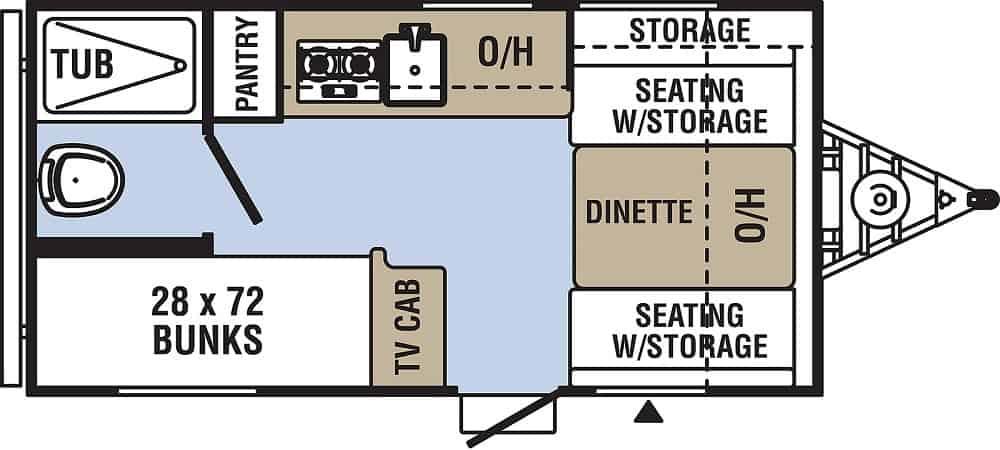 RV camper floor plan