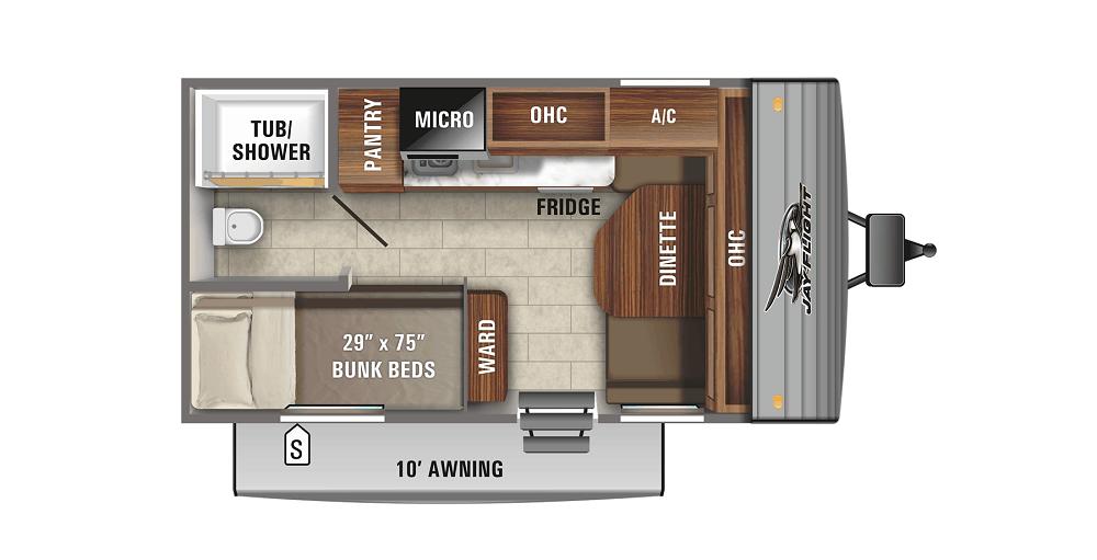 twin bed trailer floorplan