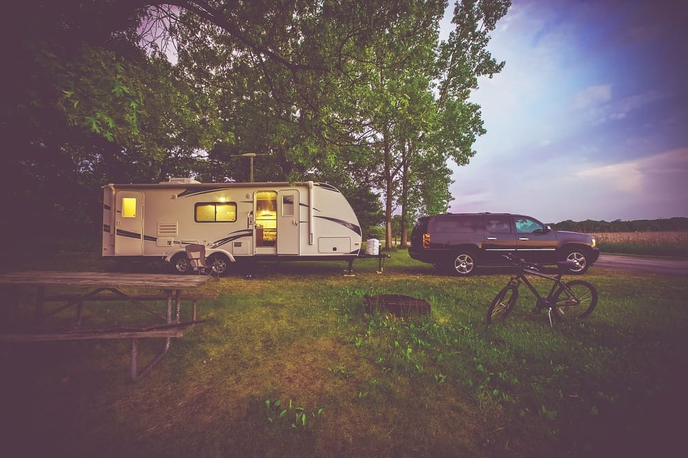 Camping in the woods with your travel trailer
