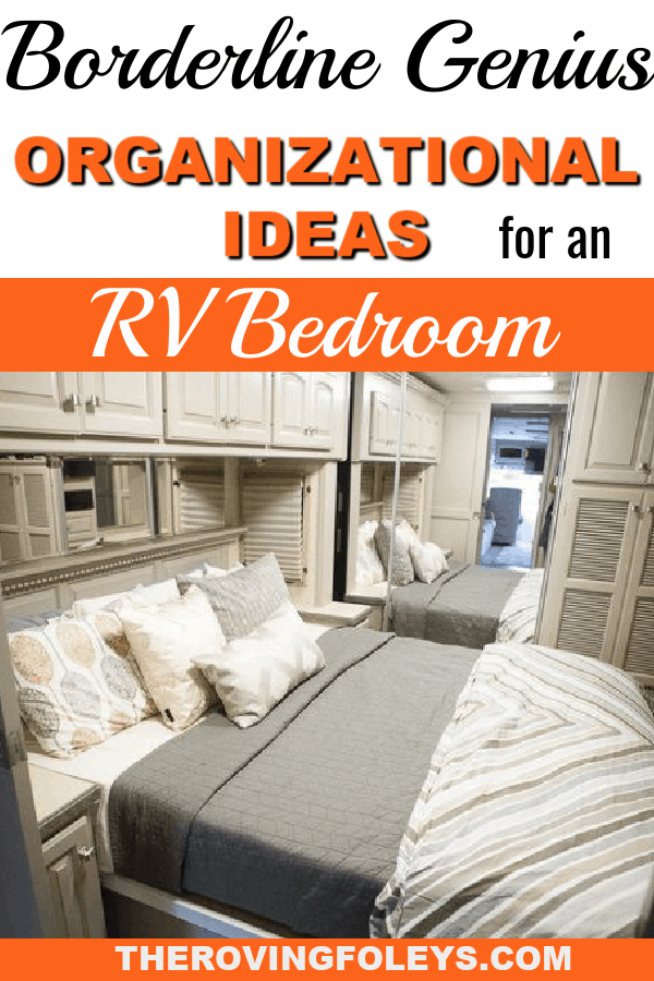 organize the rv bedroom