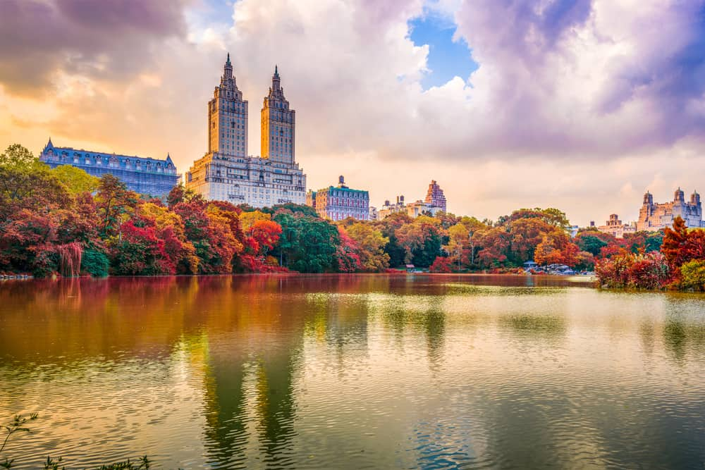 Beautiful fall colors in Central Park, NY