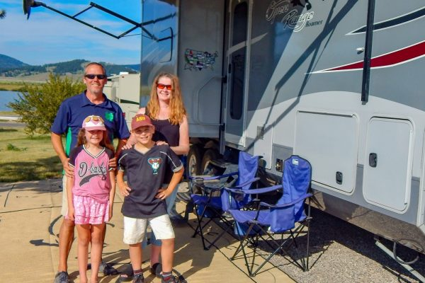 foley family outside rv